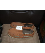 Men's Merona Tan Brown Casual Suede Leather Boat Shoes Size 8  New - $15.00