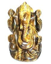 Lord Ganesha In Tiger Eye - 390 gm - $97.00