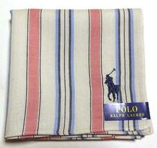 POLO Ralph Lauren Handkerchief hanky scarf bandana Gray Men Striped Auth... - $23.76