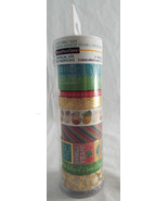 Recollections Tropical Life Washi Tape Tube 8 rolls 5-10yd  3-5yd Foil - $17.67