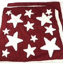 """Pottery Barn set of 2 Quilted Red Stars 26"""" European Star Pillow Sham Co... - $49.49"""