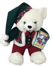 "Vintage 1994 Dan Dee Snowflake Teddy Bear 21"" Christmas Plush W Tags Hat... - $37.86"