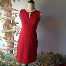 Ann Taylor Loft Petite Woman Sleeveless Red Dress Size 2P - $36.62