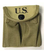 WWII M1 CARBINE RIFLE 15RD BUTT STOCK AMMO POUCH-OD3 - $14.92