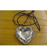 trendy heart crystal glass bead pendant necklace - free shipping - $5.99