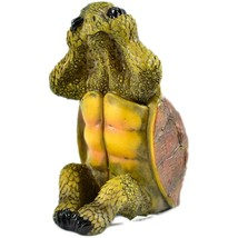 See No Evil Speak No Evil Hear No Evil Three Wise Turtles Tortoise Figurine Set image 2