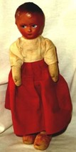 Antique Old Doll Straw Filled Body Molded Stapled Plastic Head Moveable ... - $47.49