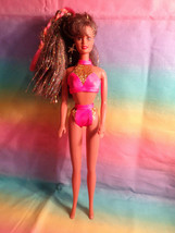 Vintage 1990 Mattel Brown Irridescent Hair Barbie Doll Nude - damaged - ... - $2.48