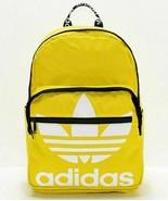 Adidas Originals Trefoil Backpack Laptop Sleeve Yellow White Black  - $29.99