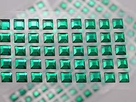KraftGenius Allstarco 6mm Green LQ09 Square Self Adhesive Acrylic Rhines... - $9.79