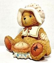 Vintage Cherished Teddies November Bear Nicole Holding Pie Monthly Figur... - $9.50