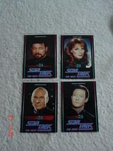 Set 4 New Zealand Star Trek The Next Generation STTNG Stickers 1994 TV3 - $38.69