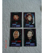 Set 4 New Zealand Star Trek The Next Generation STTNG Stickers 1994 TV3 - $38.69
