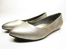 Soft Style by Hush Puppies Darlene Leather Wedge Pumps Dark Pewter Size 9.5W - $38.69