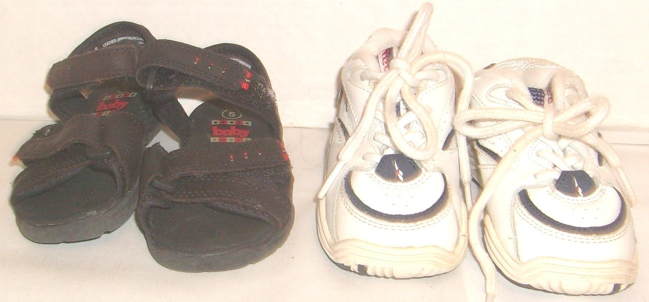 Baby Shoes Reebok and Baby Smart Boys Size 5 2 Pair