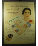 1950 Coty Finger blend Make-up Ad - Most exciting beauty idea since the ... - $14.99