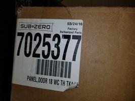 "Sub-Zero 7025377 4"" Toe Kick Door Panel with Tubular Handle (Left Hinge) ss - $544.50"