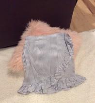 Blue Striped Wrap Skirt Wonderly Belk Adjustable Waist Junior Fits S M image 2
