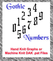 Gothic Numbers Patterns HK Graphs or MK DAK - $1.80