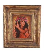 """Zoll Tahitian Tänzer """" Von Anthony Sidoni Unterzeichnet Öl Auf Masonite - $2,721.39"""