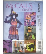 McCall's Crafts M6623 Halloween Apron + Decorations Sewing Pattern - $14.95