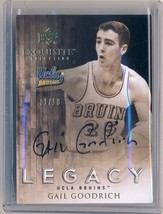 GAIL GOODRICH 2011-12 11/12 Exquisite AUTO Legacy On-Card 1/10 RARE LAKE... - $64.30