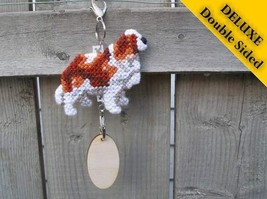 Cavalier King Charles Spaniel Deluxe crate tag, hang anywhere, dog show agility - $22.00