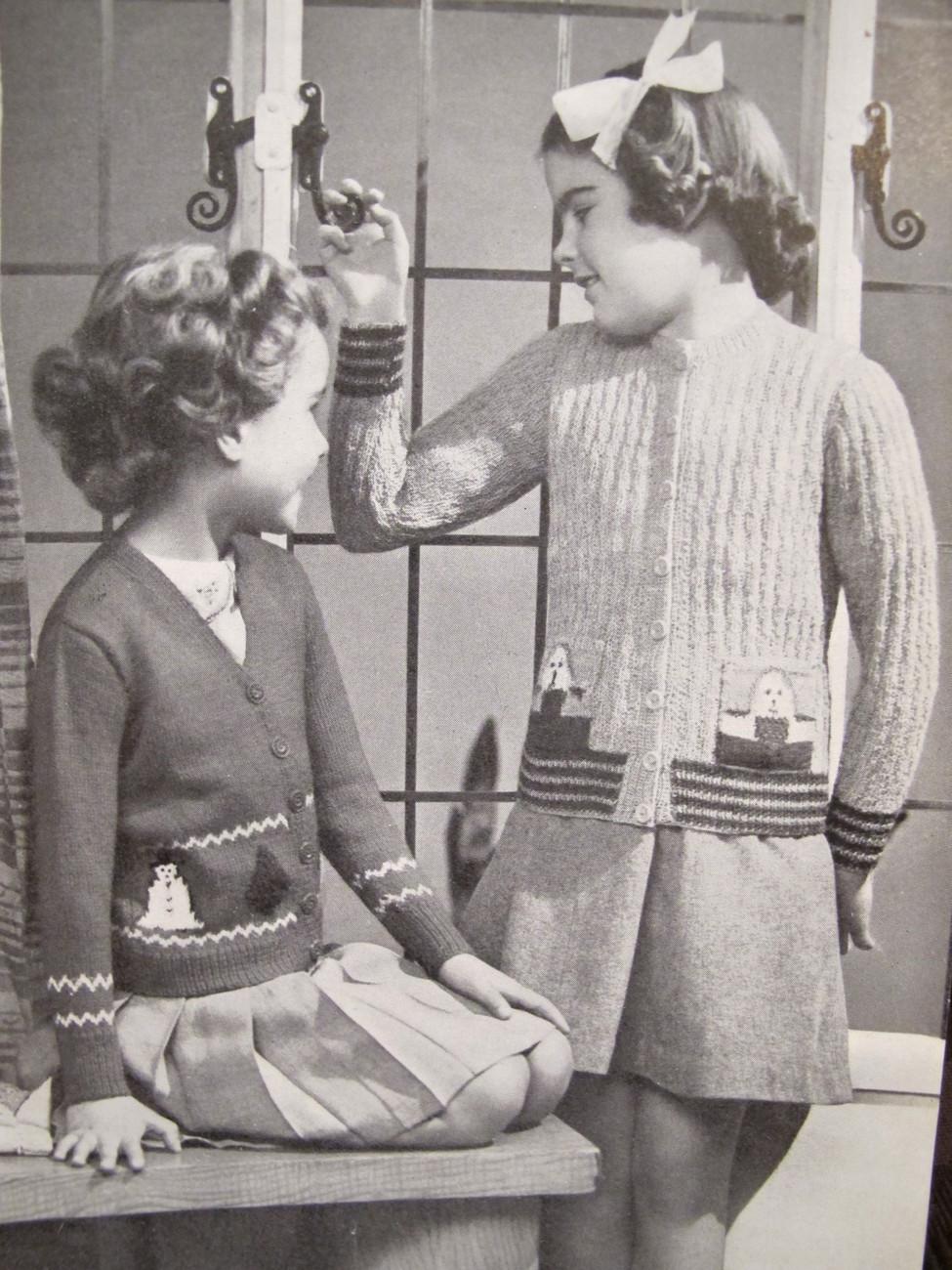 Vintage Knitting Patterns Toyland Cardigan Sweaters Jumpers Boleros CHILDREN