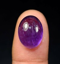 13.30 Cts. 100% Natural Amethyst Oval Cabochon 16*12*9 mm Loose Gemstone - $5.35