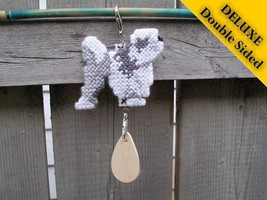 Lowchen Deluxe crate tag double sided, hang anywhere, dog kennel show agility - $22.00