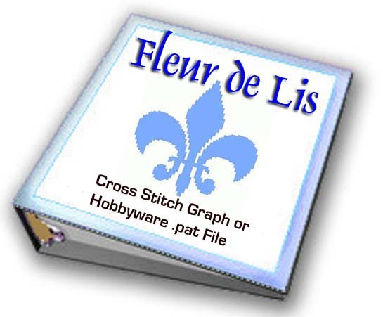 Fleur de Lis CROSS STITCH Graphs or Hobbyware .pat Files SCA RenFaire Medieval
