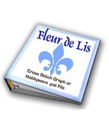 Fleur de Lis CROSS STITCH Graphs or Hobbyware .pat Files SCA RenFaire Me... - $2.00