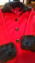 JONES OF NEW YORK WOMENS COAT FAUX FUR COLLAR CUFFS XL - $59.40