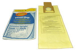 Kenmore Upright Type U 50688 and 50690 Vacuum Cleaner Bags - $3.56