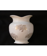 """W.S. George """"Queen"""" Vase or Sugar Bowl with Gold Flower  - $21.00"""