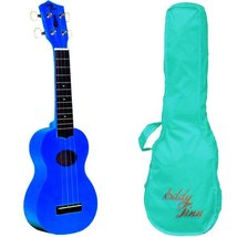 Eddy Finn Minnow Blue Ukulele With Bag! - $49.95