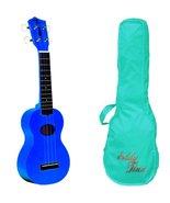 Eddy Finn Minnow Blue Ukulele With Bag! - $49.95