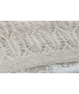 "pattern for knitted leaf afghan/throw 55""x65"" - $4.00"
