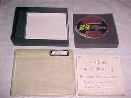 JEFF GORDON NASCAR BELT BUCKLE - NEW WITH CERTIFICATE - $23.99