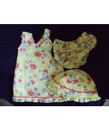 TODDLER 3 PIECE SET- 18 MO DRESS W/BONNET/BLOOMERS - $9.29