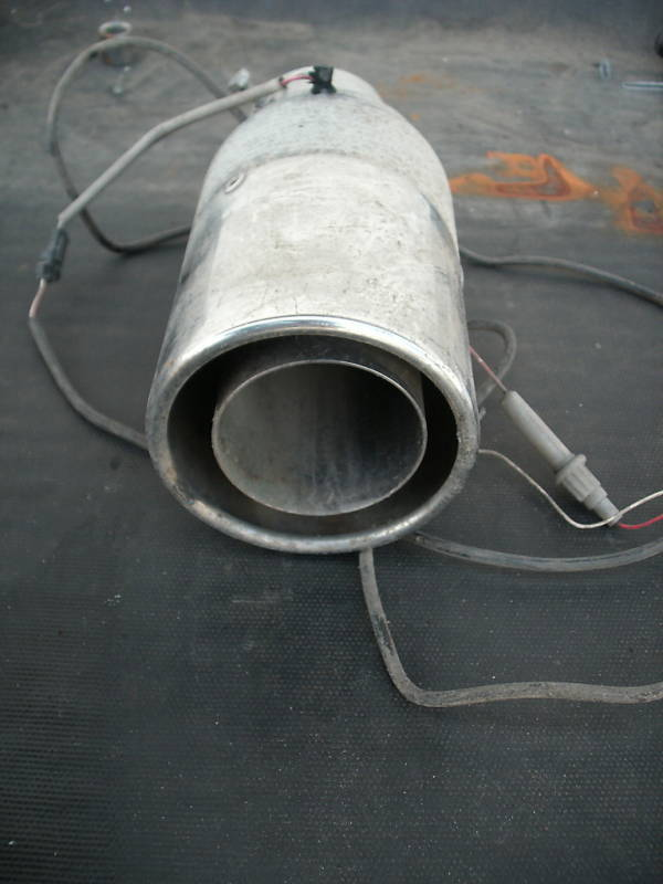 muffler taillpipe tip with wiring