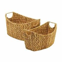 Accent Plus 10018728 Natural Water Hyacinth Oblong Baskets, Multicolor - $50.72