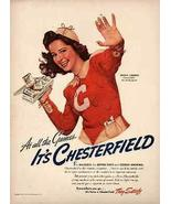 Chesterfield Girl of the Month 1941 AD Angela Cummins - $14.99