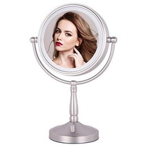 "NIESO 8"" Lighted Makeup Mirror, 10X Magnifying Mirror Brightness Adjusta... - $75.78"