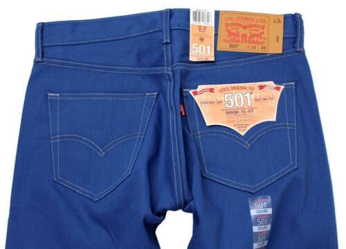 NEW LEVI'S 501 MEN'S ORIGINAL FIT STRAIGHT LEG JEANS BUTTON FLY BLUE 501-1435