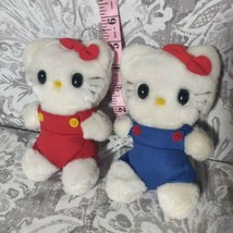 "Vintage 1983 Child Guidance Sanrio Hello Kitty 6"" Plush Toy Japan red blue  - $49.50"