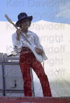 Jimi Hendrix Rare 8x12 Photograph Performing at 5/18/68 Miami Pop Festival - $99.99