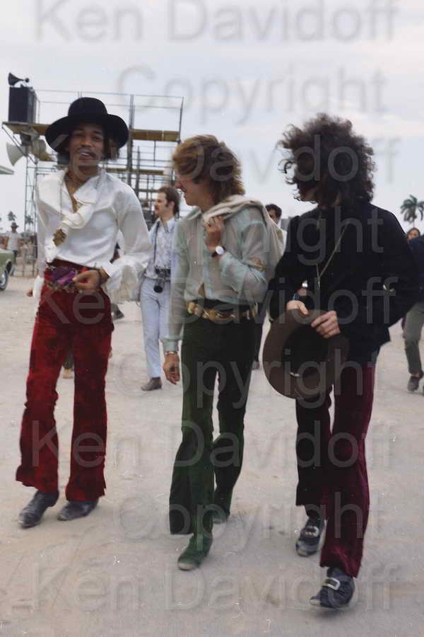 Jimi Hendrix Rare 8x12 Photograph with The Experience at 5/18/68 Miami Pop Festi