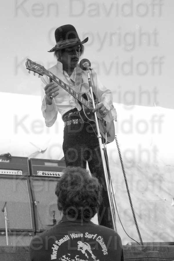 Jimi Hendrix Rare 8x12 Photograph Performing at 5/18/68 Miami Pop Festival