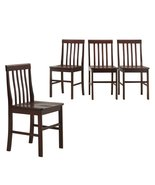 Walker Edison Solid Wood Dining Chairs Brown or... - $169.00
